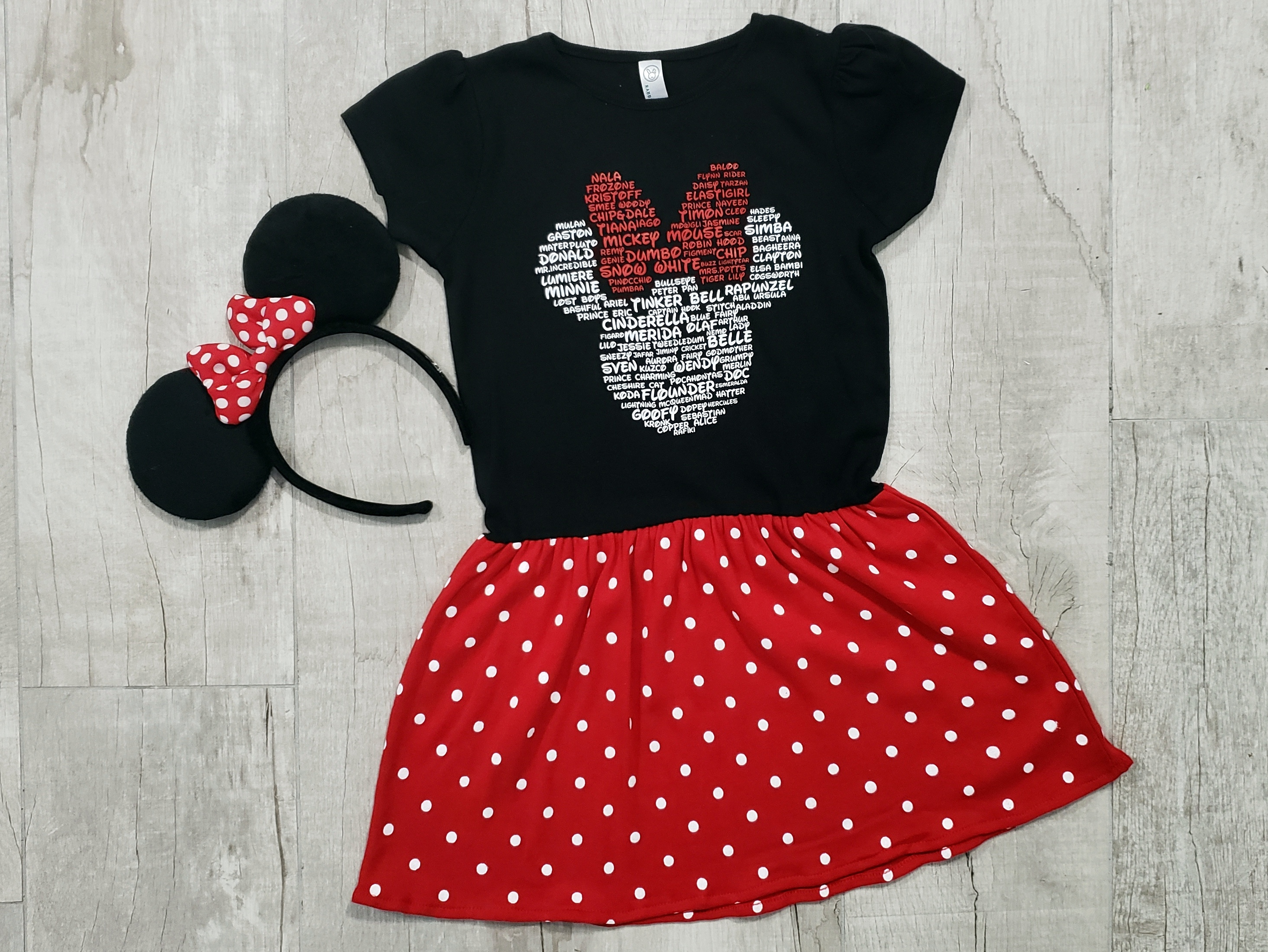 4d2cd9bac4c Minnie Polka Dot Bow Toddler Infant Dress - Enchanted By Design